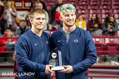 2019 B1GTEN Conference Co-Athletes of the Year Jason Nolf and Bo Nickal PSU