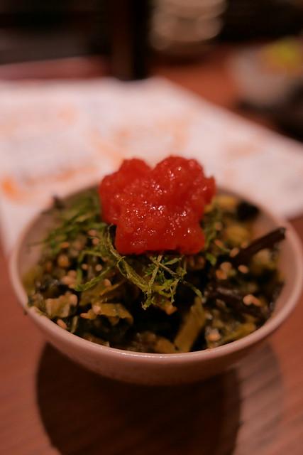 高菜の明太のせ