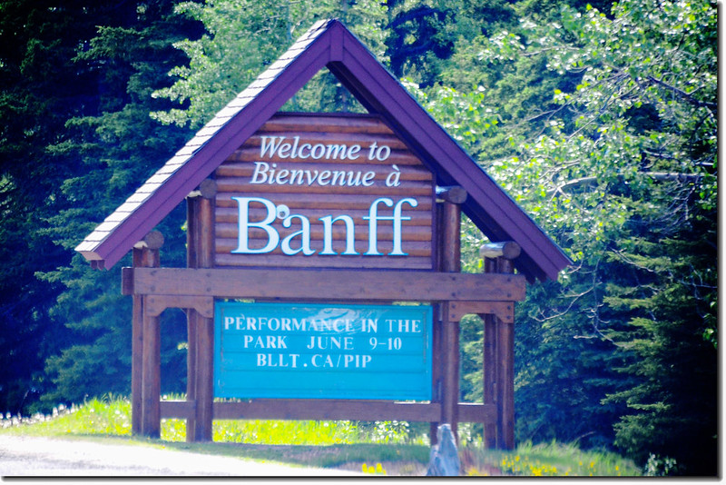 Welcome to Banff Entrance Sign National Park in Canada