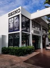 Window Displays at Seiko Boutique in Miami