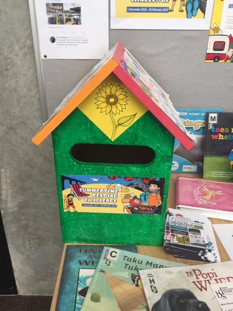 Aranui postbox for Summertime Reading Challenge