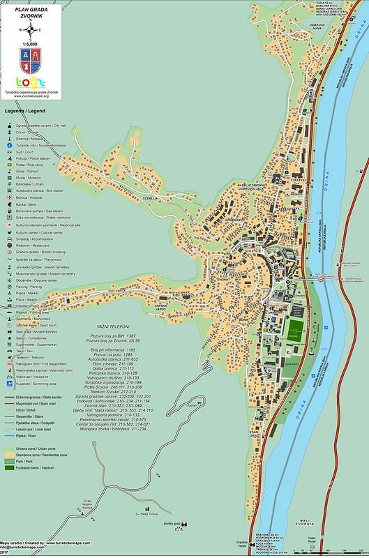 Подробная карта города Зворник