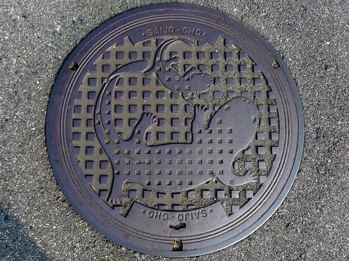Saijo Hiroshima, manhole cover (広島県西城町のマンホール)
