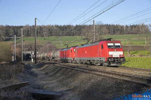 186 340+333 DB Cargo . E 47061 . Hombourg . 28.12.18.