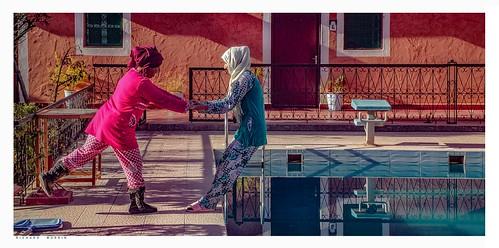 Into The Pool We Go,  L'Arganier d'Ammelne, Tafraout, Morocco. 2.2019.