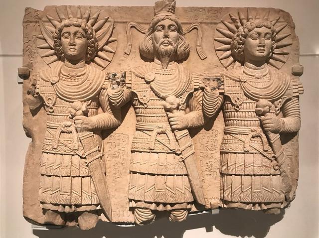 Relief with three Palmyrene Gods, 1st Century AD
