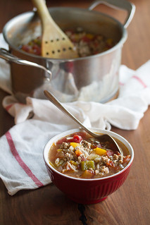 Turkey Stuffed Pepper Soup | by Isabelle @ Crumb