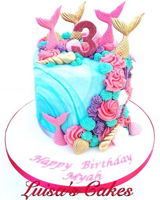 Mermaid Birthday Cake by Luisa's Cakes