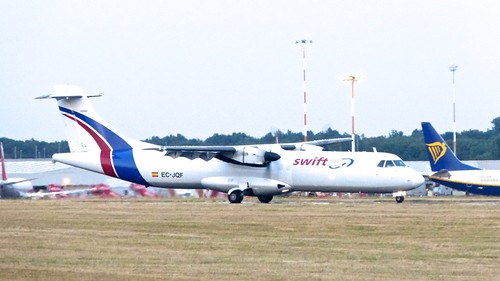 EC-JQF 'Swiftair'. ATR 72-211F on Dennis Basford's railsroadsrunways.blogspot.co.uk'