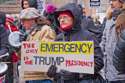 Protesting The Trump National Emergency Chicago Illinois 2-18-19 6135