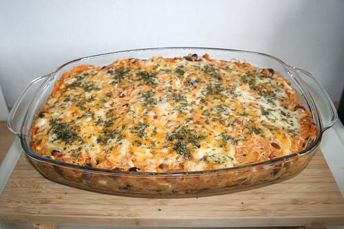 30 - Creamy chicken spaghetti - Finished baking / Cremige Hähnchenspaghetti - Fertig gebacken