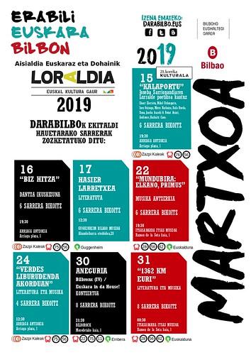 Darabilbo Agenda 2019 Martxoa2