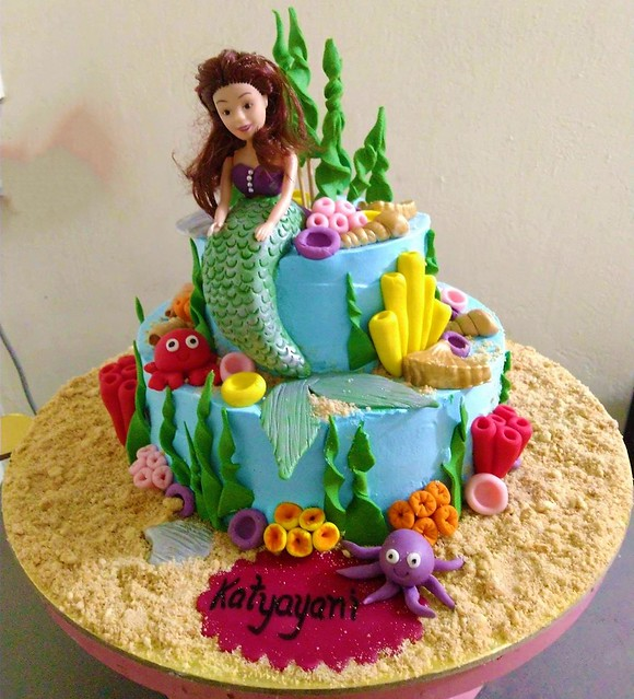 Mermaid Cake by Namrata Shukla of Tasty Treasure from Prayagraj