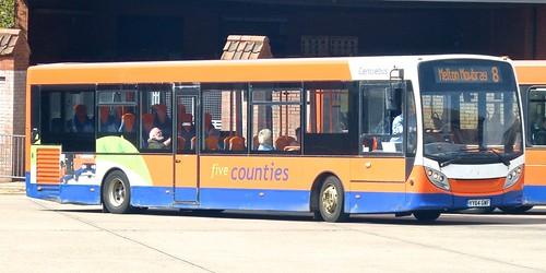 YY64 GWF 'Centrebus' No. 531, 'five counties'. Alexander Dennis Ltd.  (ADL') E20D / 'ADL' Enviro 200 on Dennis Basford's railsroadsrunways.blogspot.co.uk'