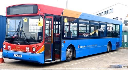 T162 MVM 'Stagecoach East Midland' No. 22162 'driver training'. MAN 18.220LF / Alexander ALX 300 on Dennis Basford's railsroadsrunways.blogspot.co.uk'  0252