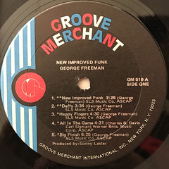 GEORGE FREEMAN:NEW IMPROVED FUNK(LABEL SIDE-A)