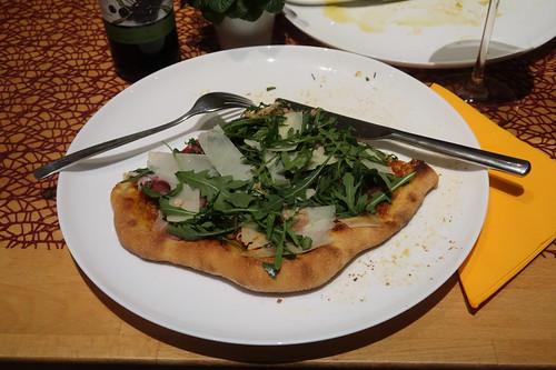 Letztes Viertel meiner Pizza Parma als Nachtimbiss