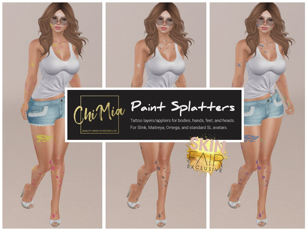 Paint Splaters for Skin Fair - TeleportHub.com Live!