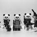 黑、白、灰 black, white, grey (LEGO minifigure MOC)