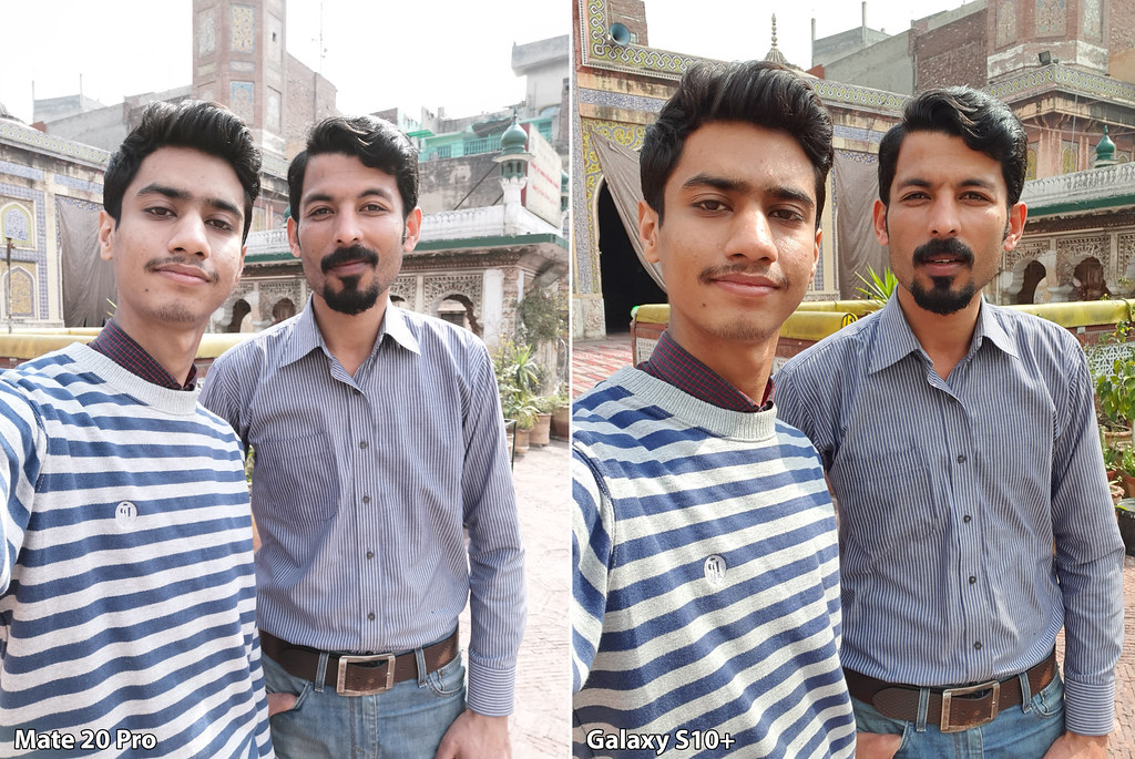 Mate 20 vs Galaxy S10+: Selfie without Background blur