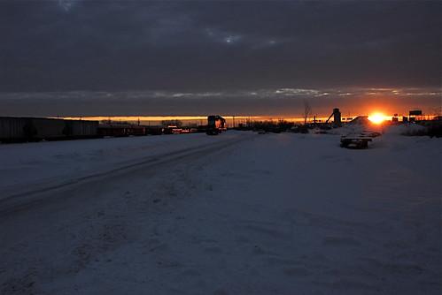 sunrise cold sun norfolk southern rockport yard