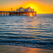 Dolphin! Malibu Pier Sunrise Sony A7R II Malibu Coast Sunset Fine Art California Coast Beach Landscape Seascape Photography! Sony A7R II Sony FE 24-240mm f/3.5-6.3 OSS Lens SEL24240 E Mount Lens! High Res 4k 8K Photography! Dr. Elliot McGucken Fine Art