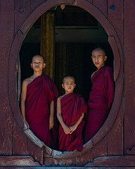 Myanmar Portrait #20 . . . . . #buddhistmonks #novices #novicemonks #myanmar #instamyanmar #visitmyanmar #myanmartrip #discoveryphototours #chrislord #chrislordnyc #pixielatedpixels #travelphotography #travelgram #burma #monk #buddhistmonastery #buddhism