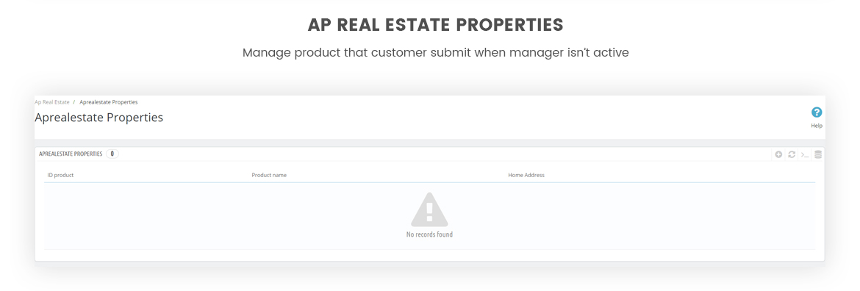 Real Estate PrestaShop Module - Real Estate Properties