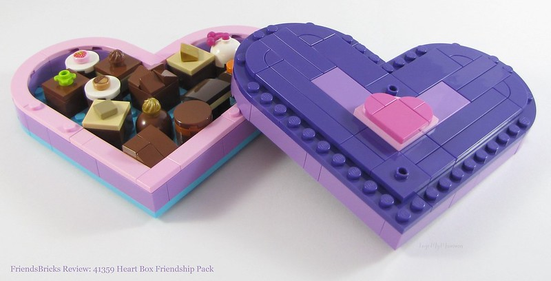 LEGO    VALENTINE/'S DAY HEART BOX  RARE// HARD TO FIND    BUILT FOR DISPLAY