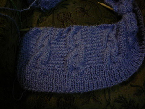 cabled blanket no flash