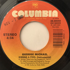 GEORGE MICHAEL:KISSING A FOOL(LABEL SIDE-B)