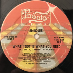 UNIQUE:WHAT I GOT IS WHAT YOU NEED(LABEL SIDE-B)