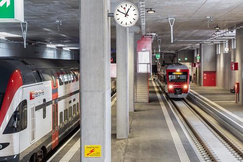 La nouvelle gare souterraine du Châble