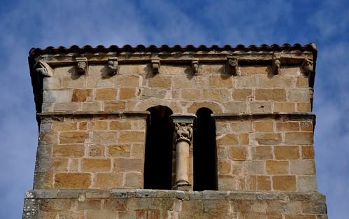 Castañeda (Cantabria). Iglesia colegiata de Santa Cruz. Torre