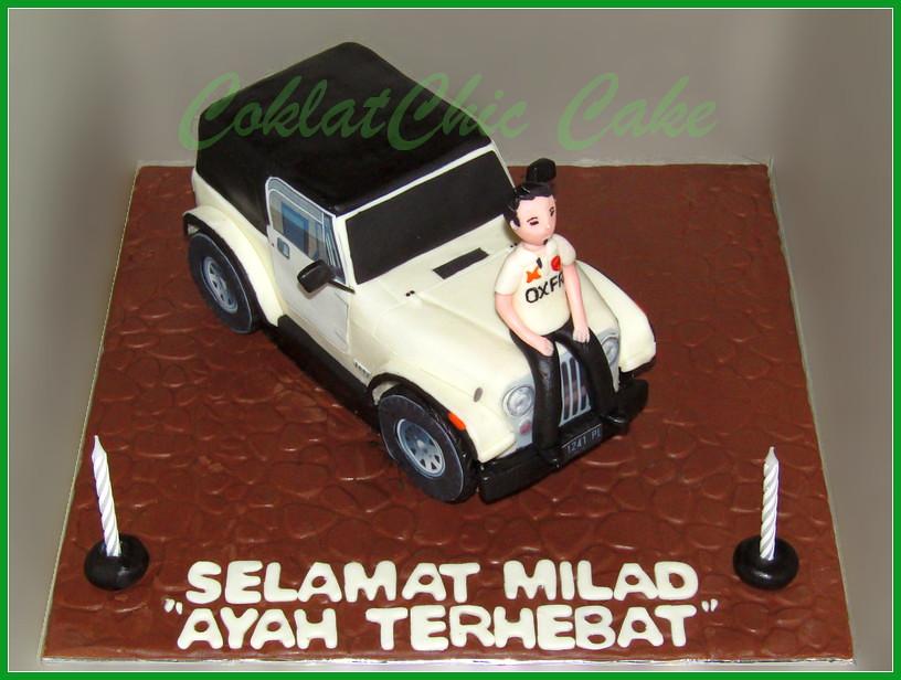Cake jeep CJ 7 Ayah Terhebat 18 cm