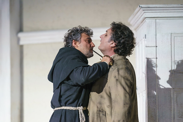 Jonas Kaufmann as Don Alvaro and Ludovic Tézier as Don Carlo in La forza del destino, The Royal Opera © 2019 ROH. Photograph by Bill Cooper