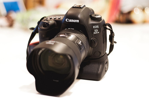 The Canon 5d mark iv with 24 - 70 2.8