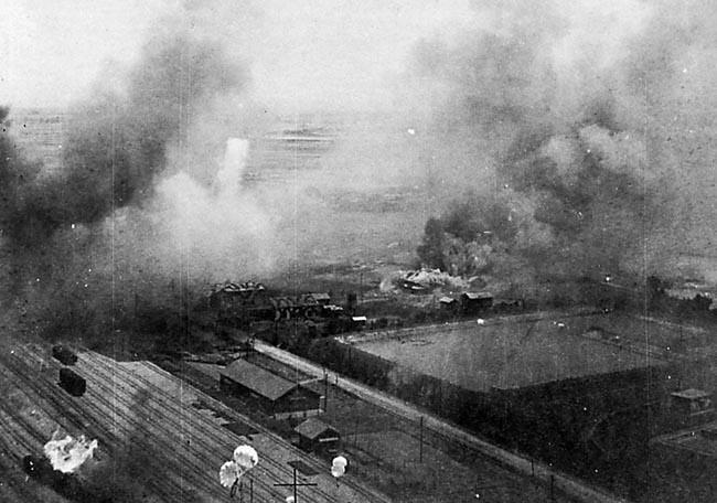 Rail yards at Shinei, Formosa