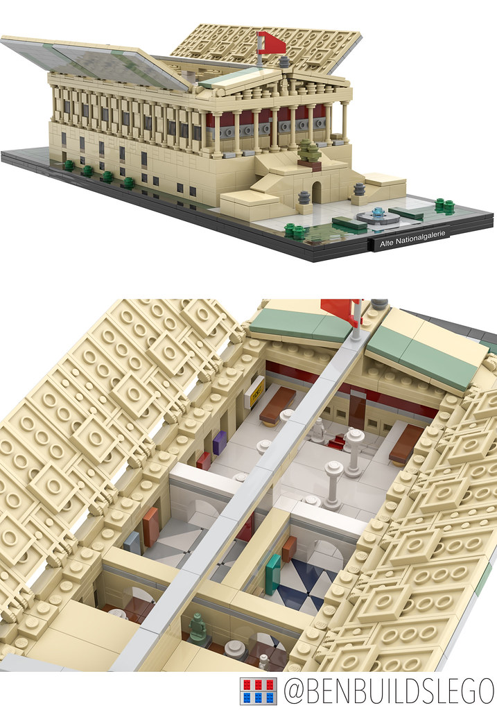 Berlin's Alte Nationalgalerie Lego MOC (Interior)
