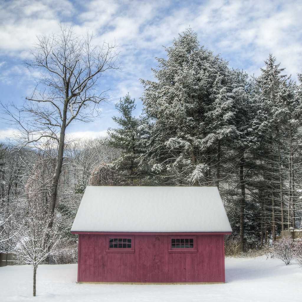 Red Barn on Christmas