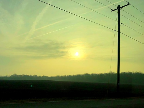 Contrails and Powerlines