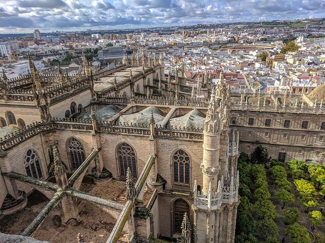 city views from the La Giralda belltower