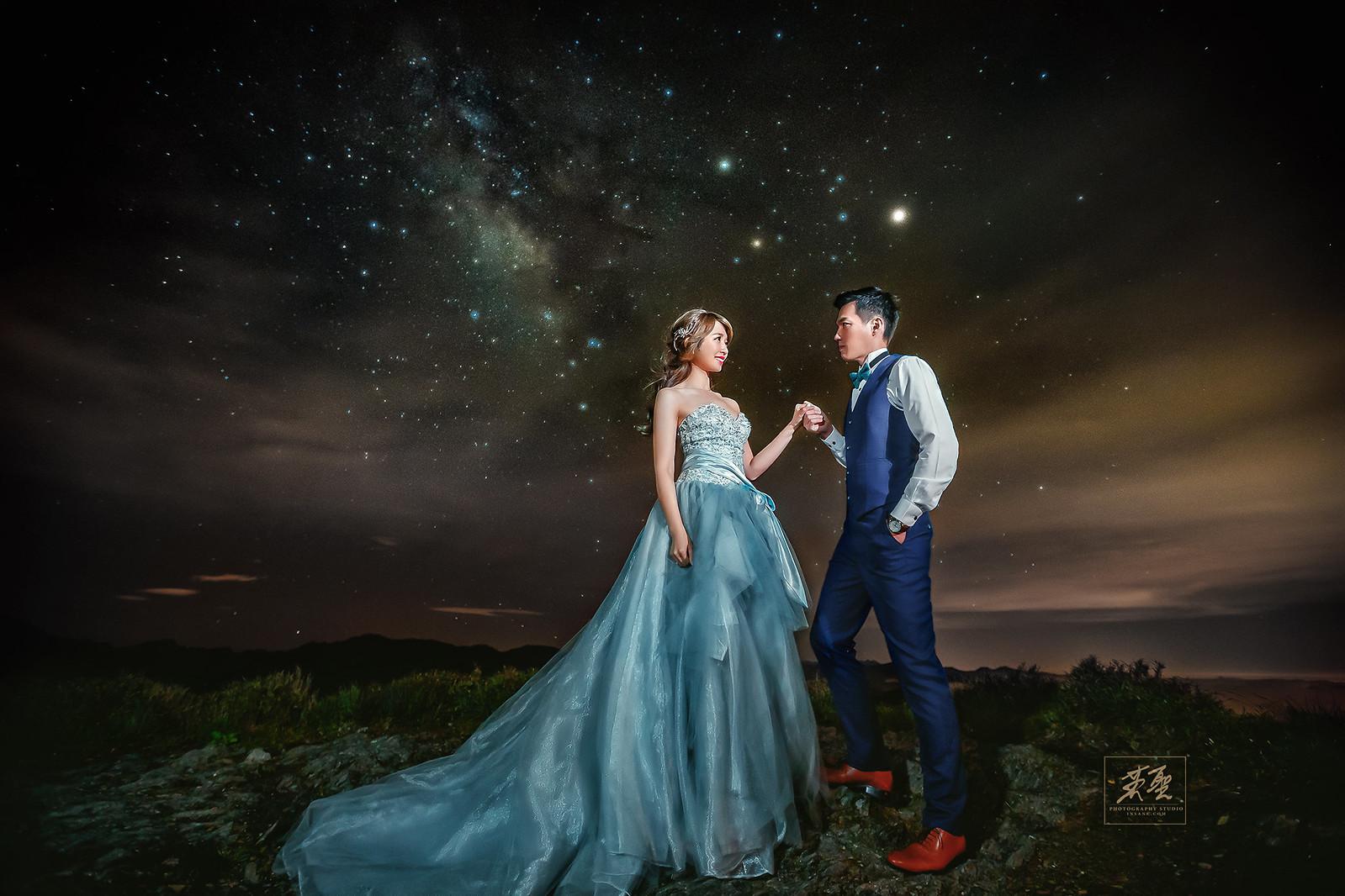 婚攝英聖-合歡山銀河婚紗