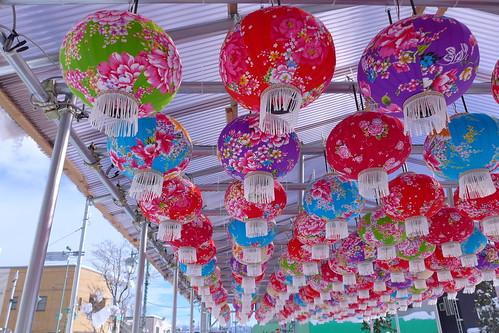 平賀駅前の平川燈籠燈火(だんろんだんほあ)