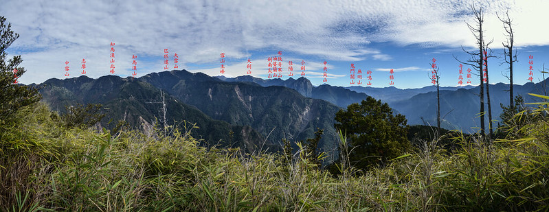北三錐山山頂展望(左至右,北-東-南) 1-1