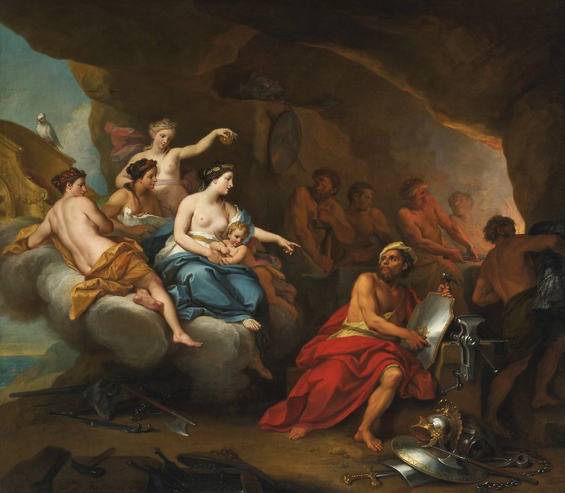 Louis de Boullogne II - Venus in the Forge of Vulcan