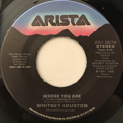 WHITNEY HOUSTON:WHERE DO BROKEN HEARTS GO(LABEL SIDE-B)
