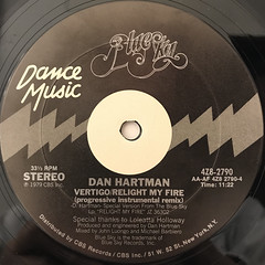 DAN HARTMAN:VERTIGO, RELIGHT MY FIRE(LABEL SIDE-B)