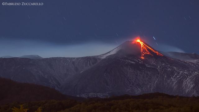Etna in eruzione da, Canon EOS 80D, Canon EF-S 55-250mm f/4-5.6 IS STM