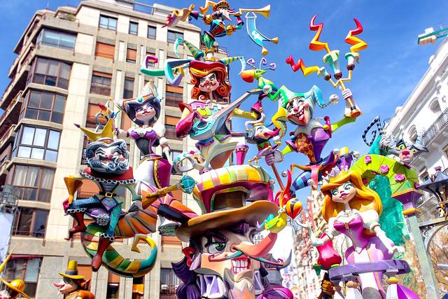 Fallas 2018 de Valencia, España